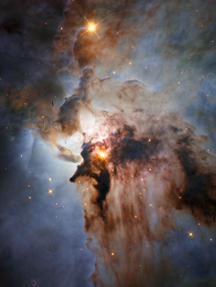 Hubble Space Telescope image of the Lagoon Nebula