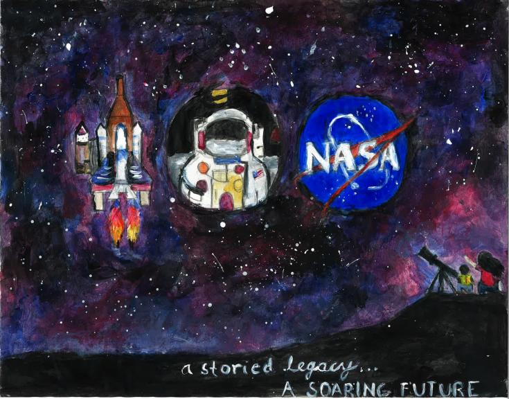 Langley Research Center centennial artwork contest winner