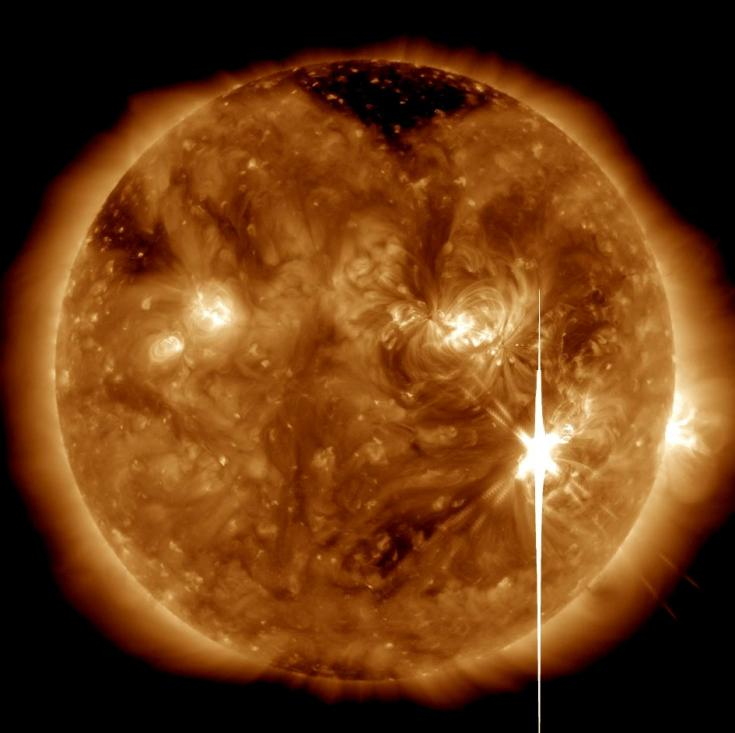 Powerful solar flare, September 6, 2017