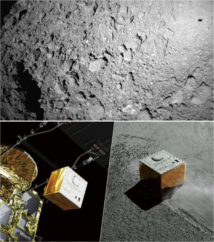 Views from the Hayabusa 2 mission to Ryugu