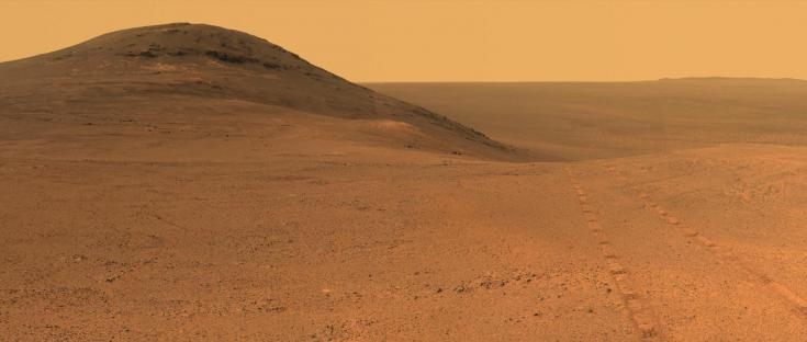 Opportunity rover view of its surroundings on Mars, June 2017