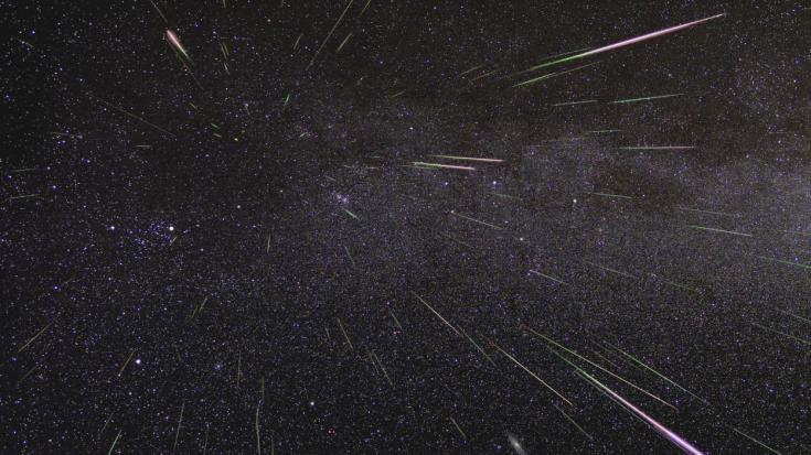 2009 view of Perseid meteors