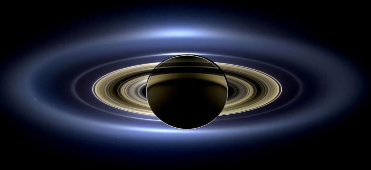 Cassini view of Saturn's family of gings