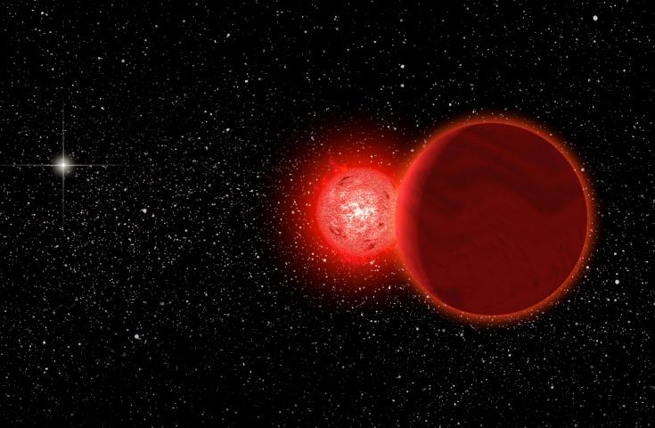 Artist's concept of Scholz's Star passing close to the solar system
