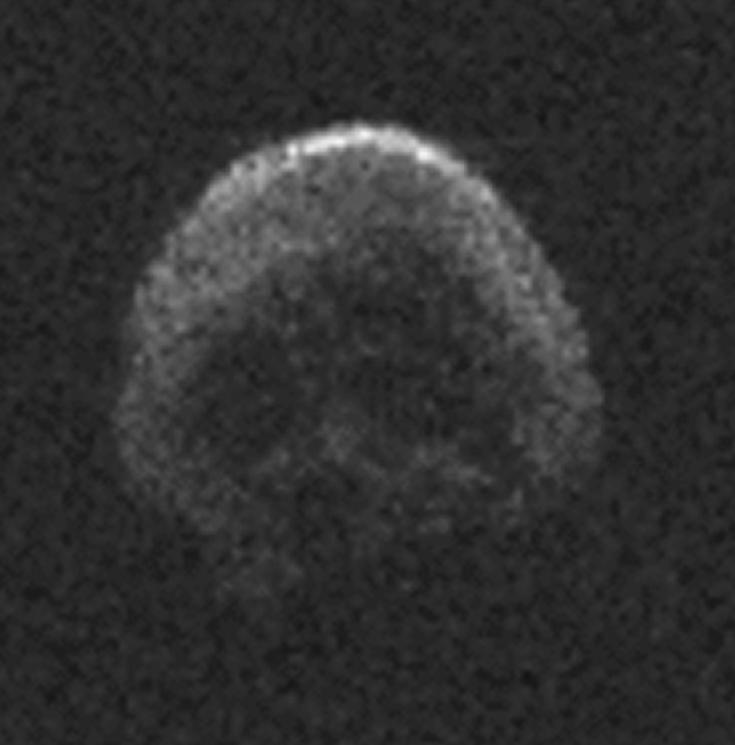 Radio view of asteroid 2015 TB145, which will pass close to Earth on Halloween