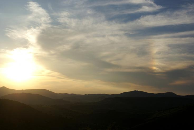 Sunset over the Davis Mountains