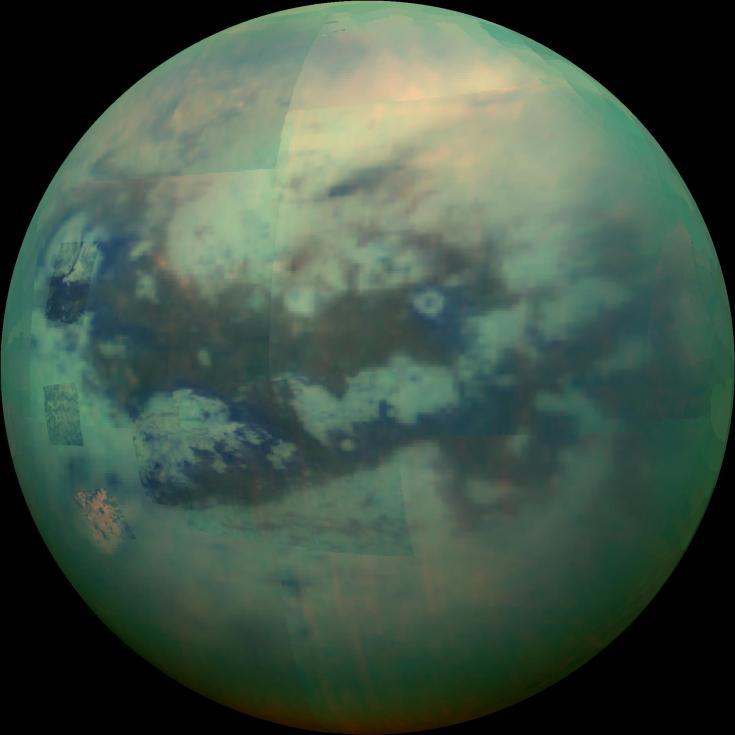 Cassini infrared view of Titan