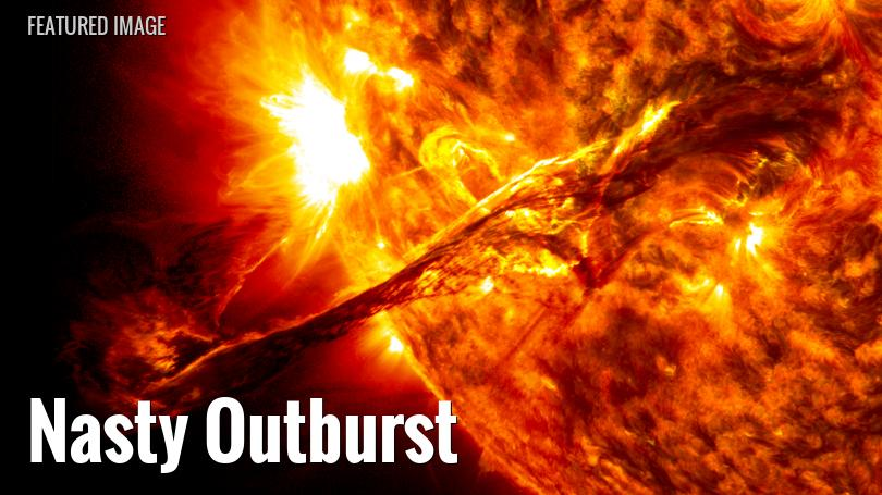 Coronal mass ejection from the Sun
