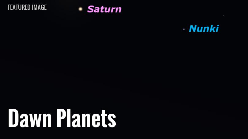 Venus and Saturn in the dawn sky