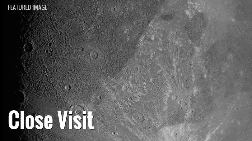 Juno spacecraft view of Ganymede