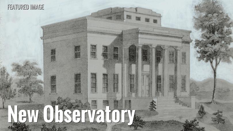 Original Cincinnati Observatory building, dedicated in 1843