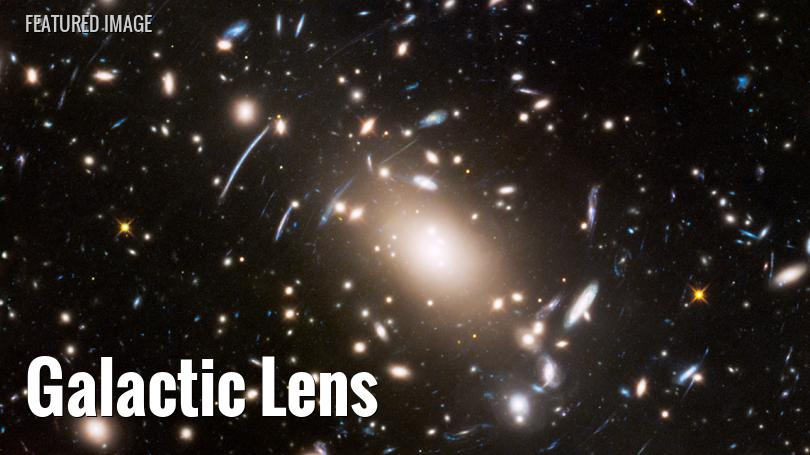 Hubble Space Telescope view of a gravitational lens