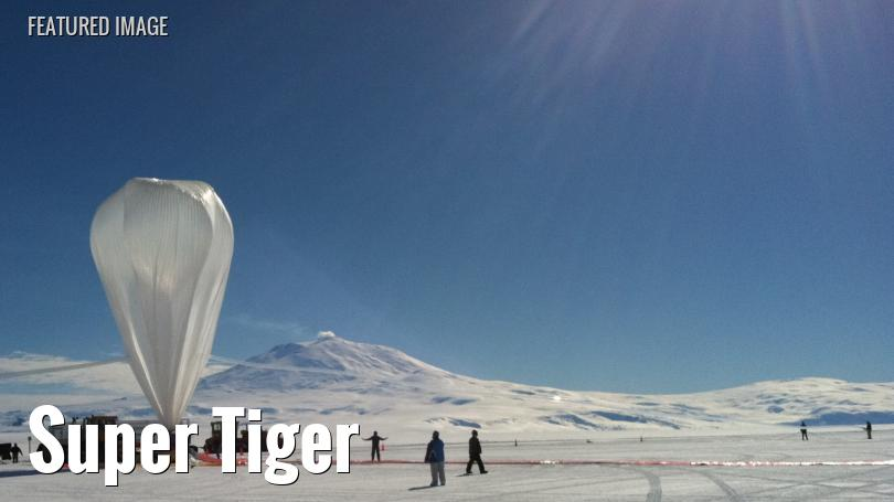 A balloon is prepared for launch from Antarctica
