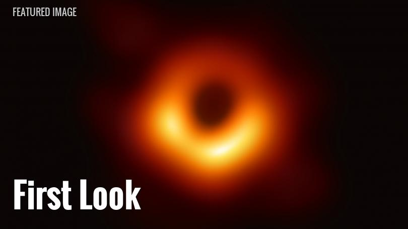 image of the black hole in the galaxy m87
