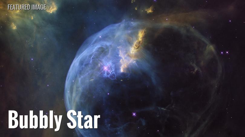 Hubble view of Bubble Nebula