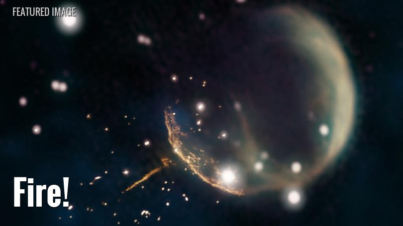 """composite image of a """"cannonball"""" pulsar"""