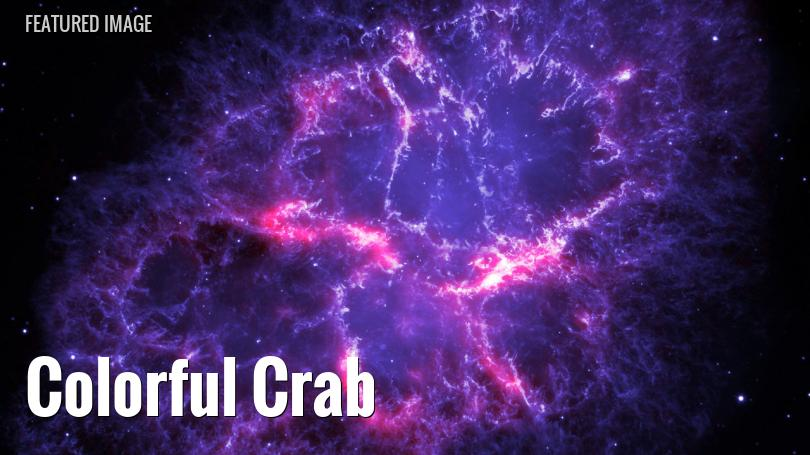 Combined optical, infrared view of the Crab Nebula