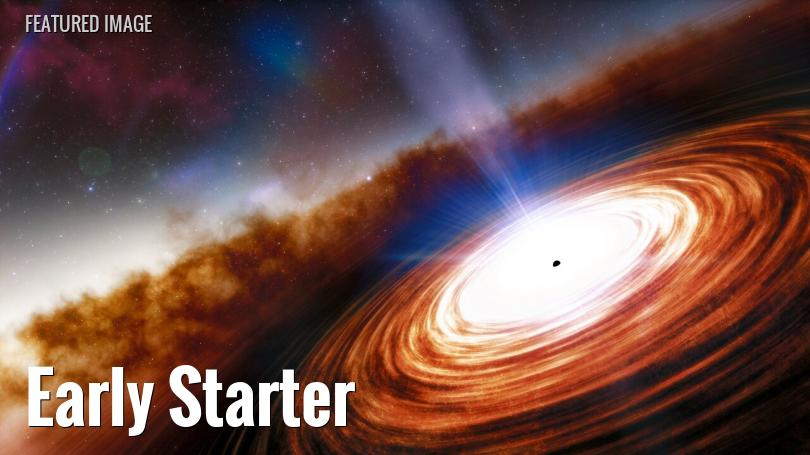 The earliest known quasar in the universe