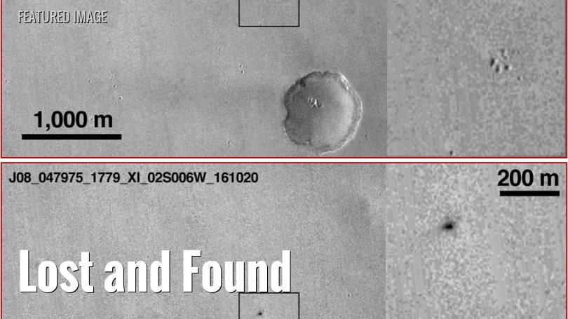 Before and after views of the landing site of the Schiaparelli probe