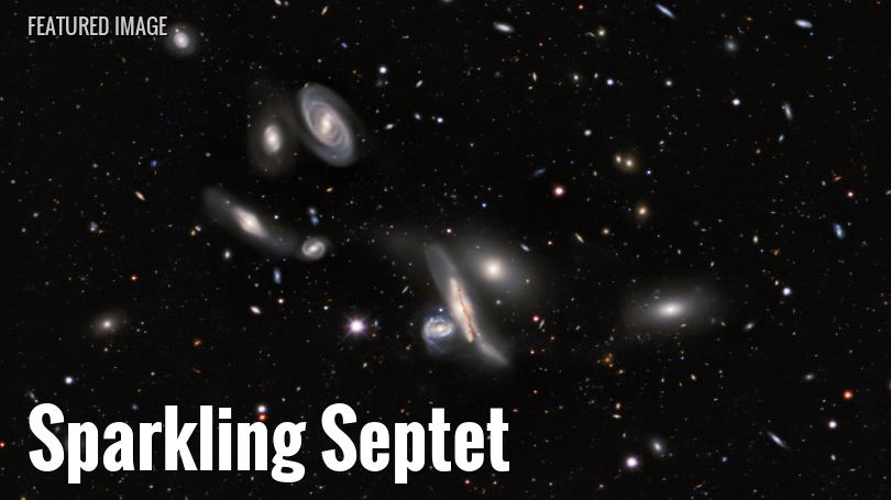 Copeland's Septet, a collection of galaxies
