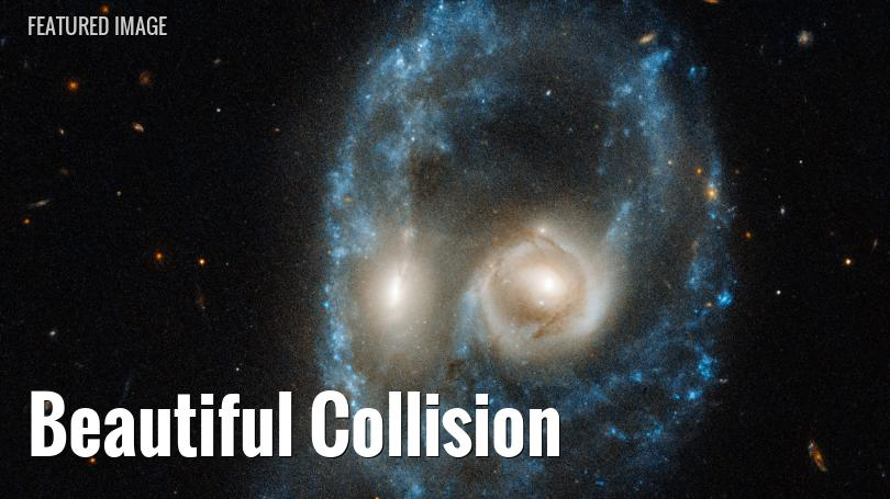 Hubble Space Telescope view of a pair of interacting galaxies