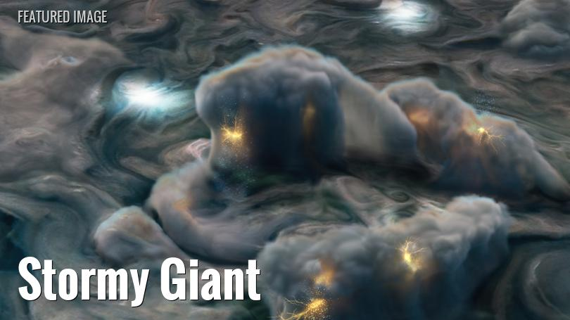 artist's concept of high-altitude lightning on jupiter