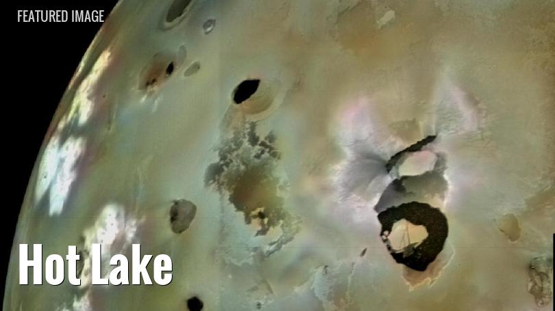 Loki Patera, the largest volcanic feature on Io