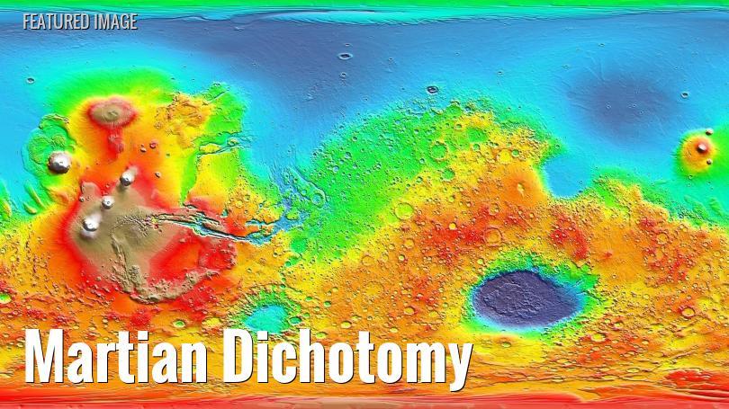 elevation map of mars