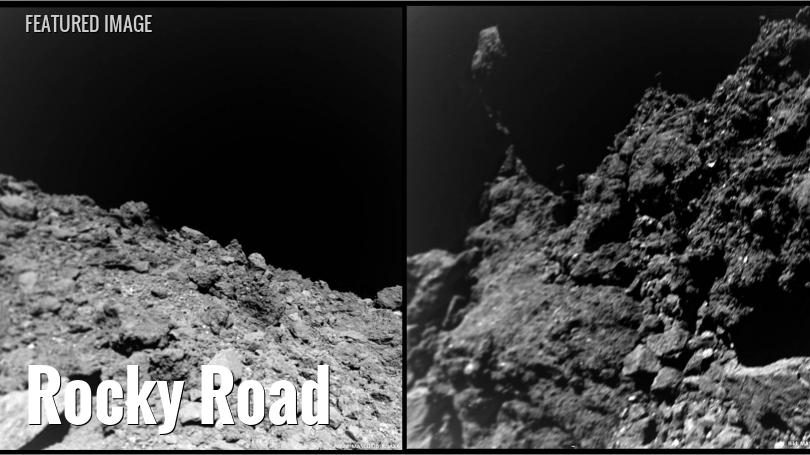 Views of the asteroid Hyabusa from a small robotic lander