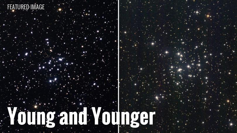 Messier 34 and Messier 36