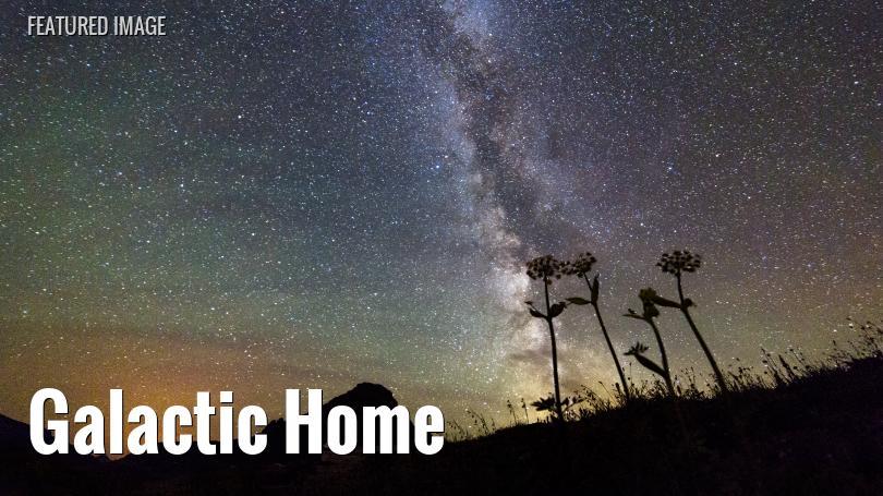 Milky Way above Glacier National Park