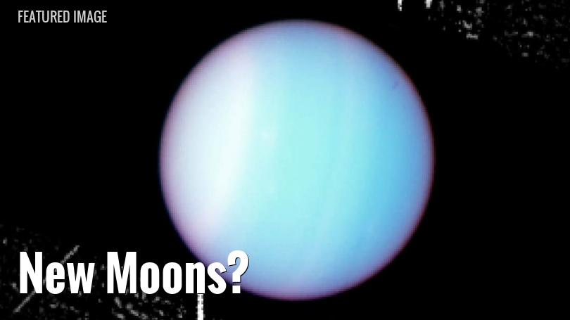 HST view of Uranus and its moons and rings