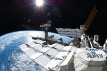 antimatter-hunting instrument aboard international space station in earth orbit