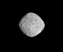 Asteroid Bennu from a distance of 85 miles