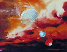 Artist's concept of Galileo Jupiter probe