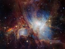 Infrared view of the Orion Nebula