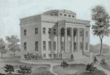 Original Cincinnati Observatory building, dedicated in 1843