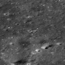 LRO view of Chang'e-4 and Yutu