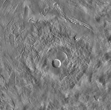 Pavonis Mons on Mars