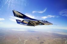 first flight from New Mexico of Virgin Galactic rocket