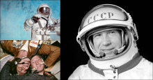 collage of images of Alexei Leonov