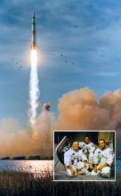 Apollo 8 launch and flight crew