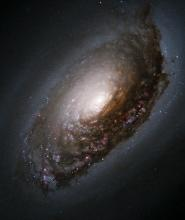 Hubble Space Telescope view of spiral galaxy M64, the Black-Eye Galaxy