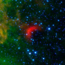 Infrared image of a bow shock in front of a fast star