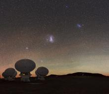 Magellanic Clouds over ALMA