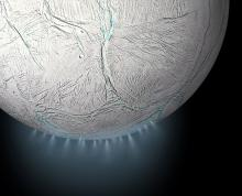 Fountains from Enceladus