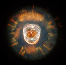 Planetary nebula known as the Eskimo Nebula
