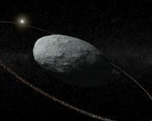 Rings encircle the dwarf planet Haumea
