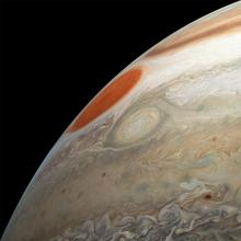 Juno view of Jupiter's Great Red Spot, Oval BA