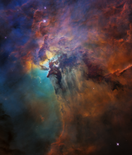Hubble Space Telescope view of the core of the Lagoon Nebula